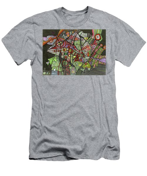Psychedelic Sea Creature Men's T-Shirt (Athletic Fit)