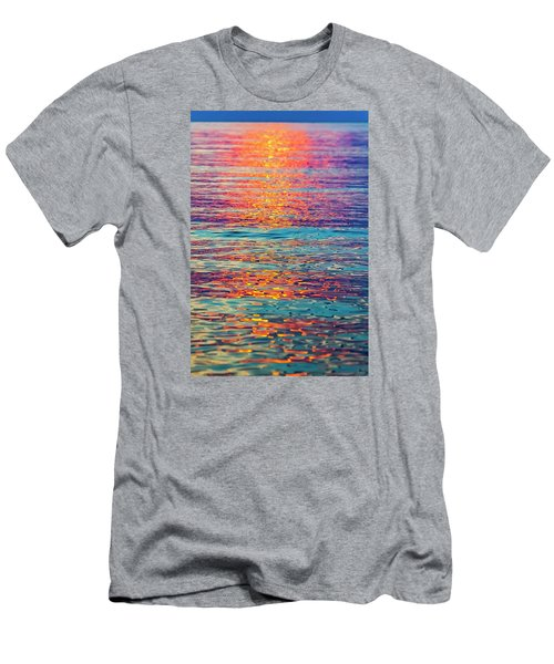 Psychedelic Sunset Men's T-Shirt (Athletic Fit)