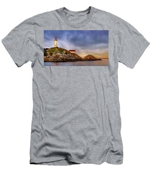 Pt Atkinson Lighthouse Sunset Men's T-Shirt (Athletic Fit)