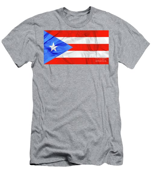 Puerto Rico Flag Men's T-Shirt (Athletic Fit)