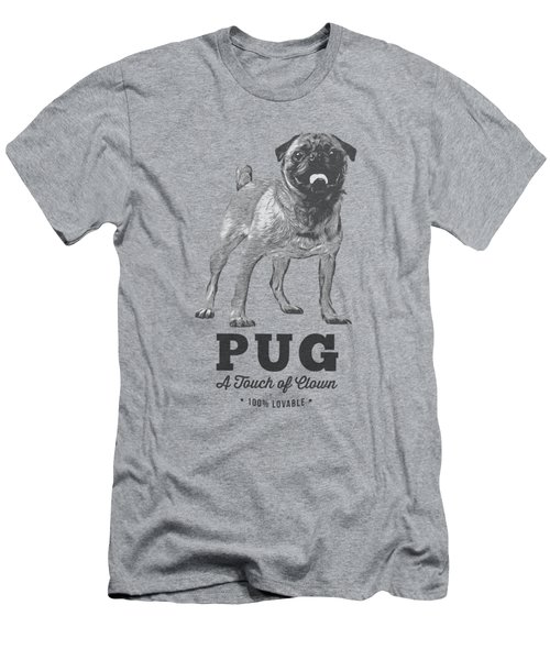Pug Dog Touch Of Clown T-shirt Men's T-Shirt (Athletic Fit)