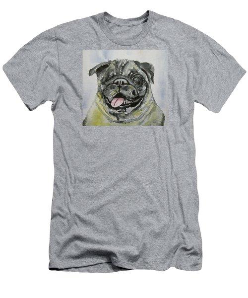 One Eyed Pug Portrait Men's T-Shirt (Slim Fit)