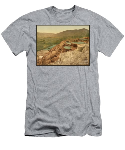 Pulpit Terraces Yellowstone  Men's T-Shirt (Athletic Fit)