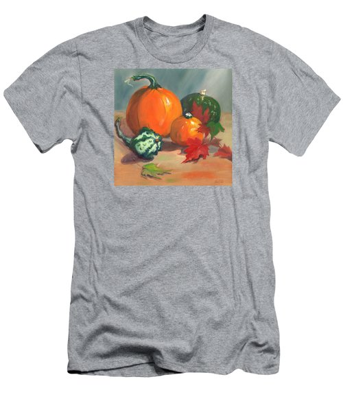 Men's T-Shirt (Slim Fit) featuring the painting Pumpkins by Susan Thomas