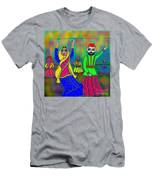 Men's T-Shirt (Slim Fit) featuring the digital art Puppets by Latha Gokuldas Panicker