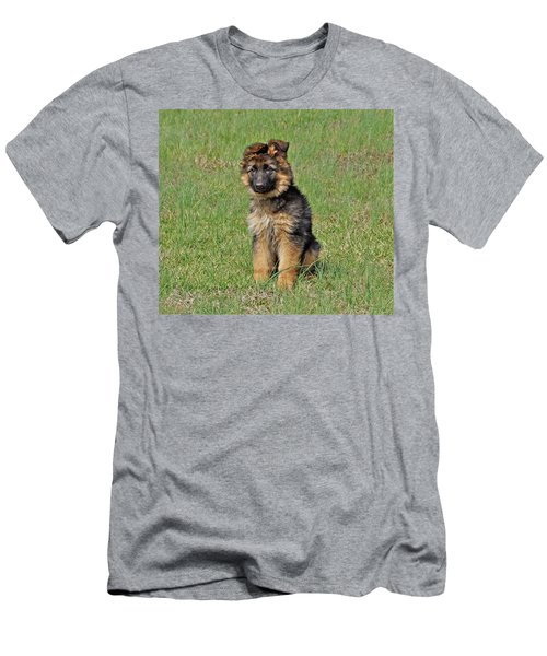 Men's T-Shirt (Slim Fit) featuring the photograph Puppy Halo by Sandy Keeton