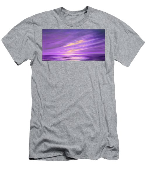 Purple Abstract Sunset Men's T-Shirt (Athletic Fit)