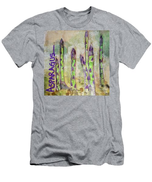Men's T-Shirt (Slim Fit) featuring the painting Purple Asparagus by Kim Nelson