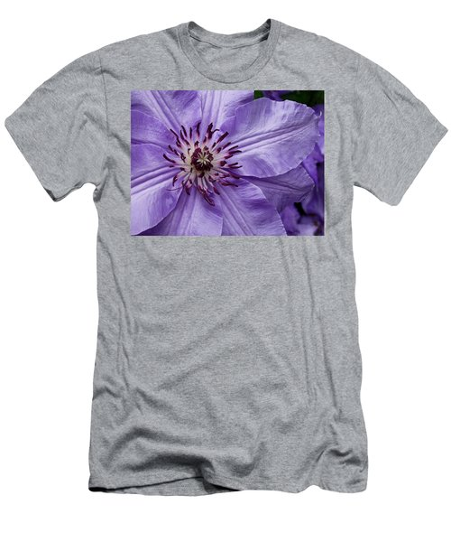 Purple Clematis Blossom Men's T-Shirt (Athletic Fit)
