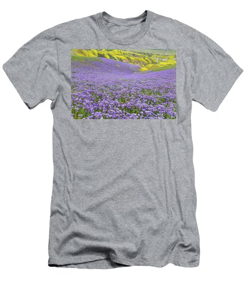 Men's T-Shirt (Slim Fit) featuring the photograph Purple  Covered Hillside by Marc Crumpler
