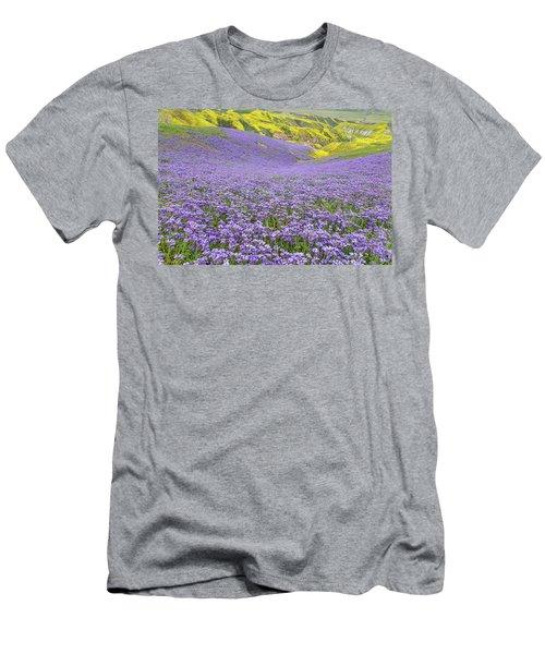 Purple  Covered Hillside Men's T-Shirt (Athletic Fit)