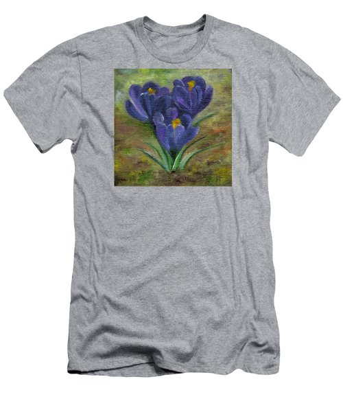 Purple Crocus Men's T-Shirt (Athletic Fit)