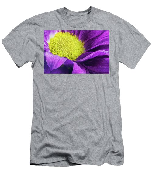 Purple Daisy In The Garden Men's T-Shirt (Athletic Fit)