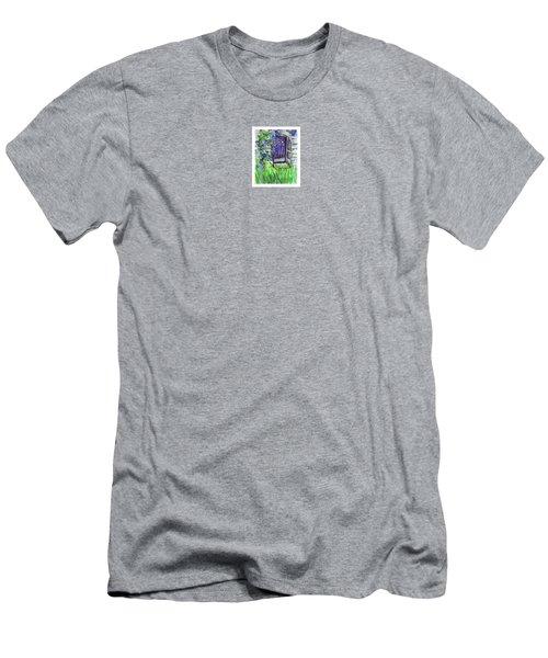 Purple Doorway Men's T-Shirt (Athletic Fit)
