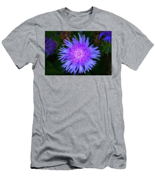 Purple Flower From Mars Men's T-Shirt (Athletic Fit)