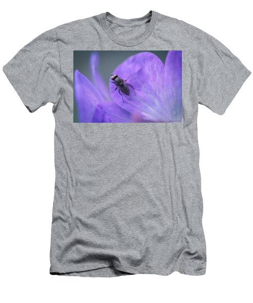 Purple Fly Men's T-Shirt (Athletic Fit)