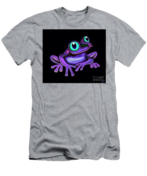 Men's T-Shirt (Slim Fit) featuring the painting Purple Frog  by Nick Gustafson