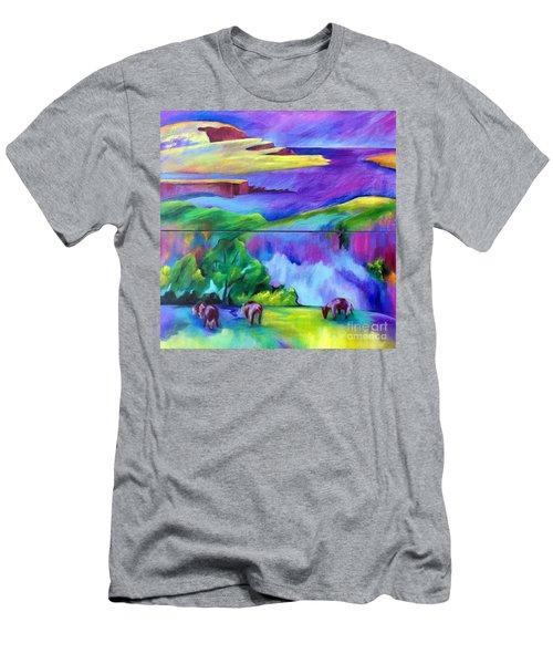 Purple Graze Men's T-Shirt (Athletic Fit)