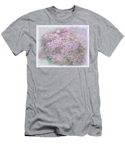Purple Hydrangeas Men's T-Shirt (Athletic Fit)