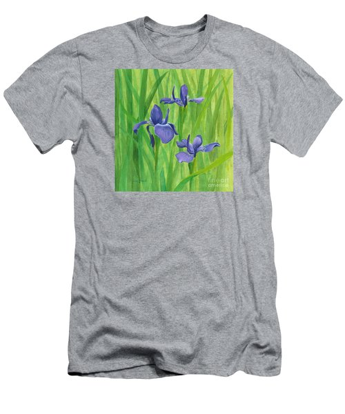 Purple Iris Men's T-Shirt (Slim Fit) by Phyllis Howard