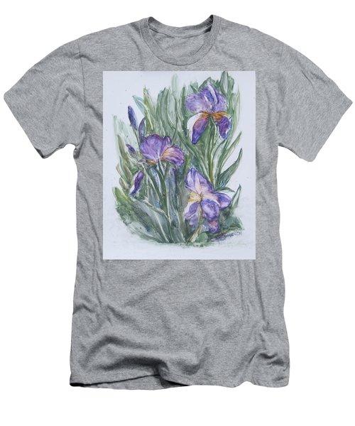 Purple Iris Watercolor Men's T-Shirt (Athletic Fit)