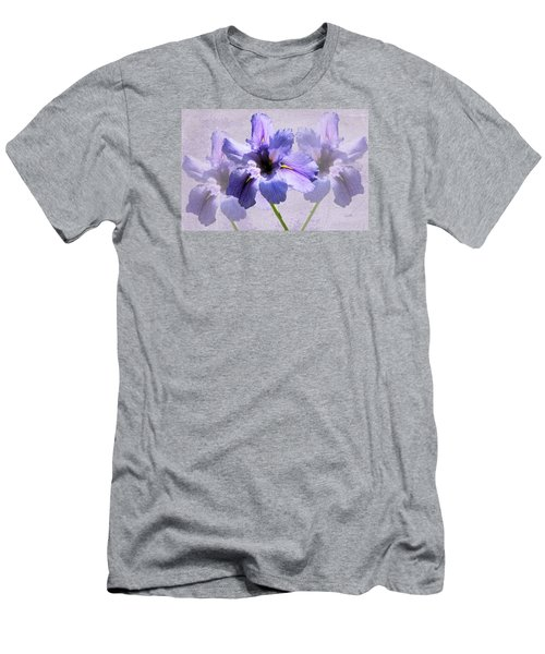 Purple Irises Men's T-Shirt (Athletic Fit)