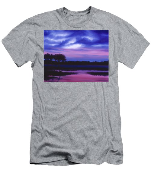 Purple Landscape Or Jean's Clearing Men's T-Shirt (Athletic Fit)