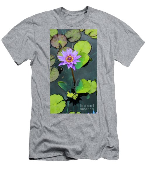 Purple Lilly With Lilly Pads Men's T-Shirt (Athletic Fit)