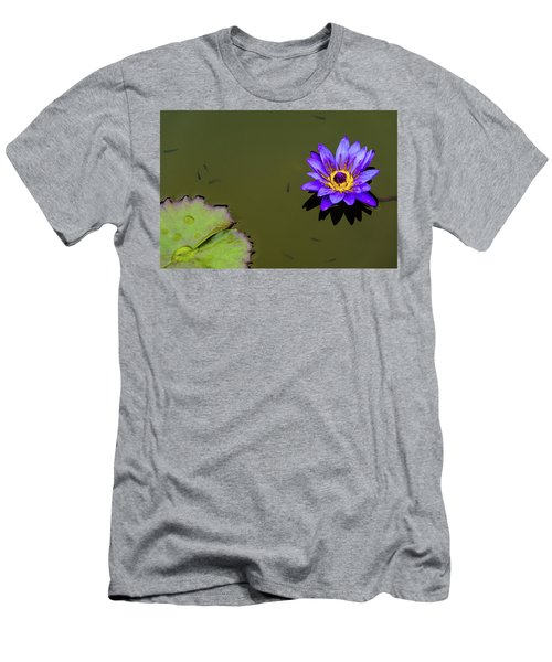 Purple Lily With Tiny Fish Men's T-Shirt (Athletic Fit)