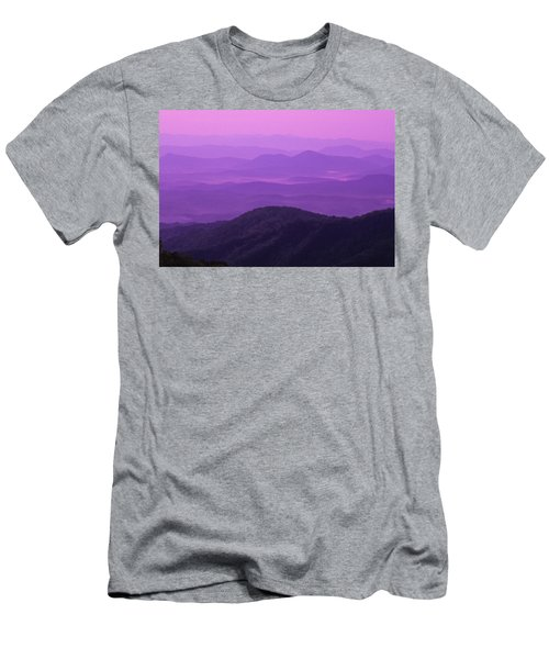 Purple Mountains Men's T-Shirt (Athletic Fit)