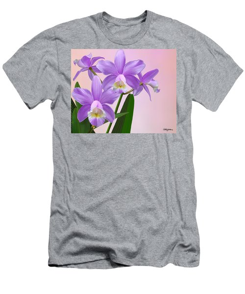 Purple Orchids Men's T-Shirt (Athletic Fit)