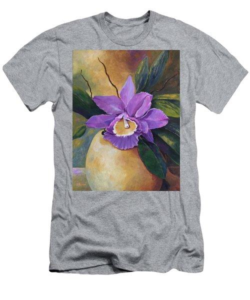 Purple Passion Orchid Men's T-Shirt (Athletic Fit)
