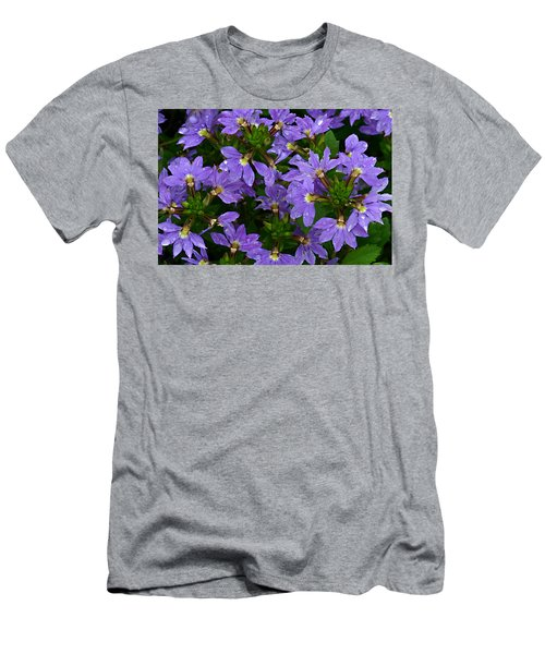 Men's T-Shirt (Slim Fit) featuring the photograph Purple Perspective by Shari Jardina