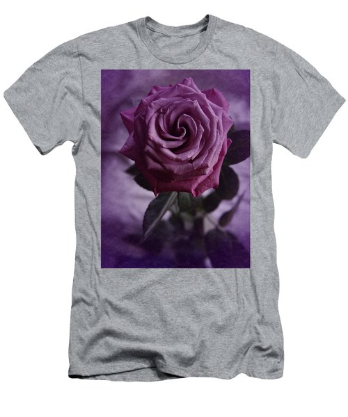 Men's T-Shirt (Slim Fit) featuring the photograph Purple Rose Of December by Richard Cummings