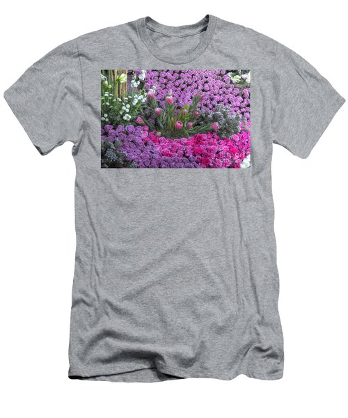 Purple Roses, Pinks And White Men's T-Shirt (Athletic Fit)