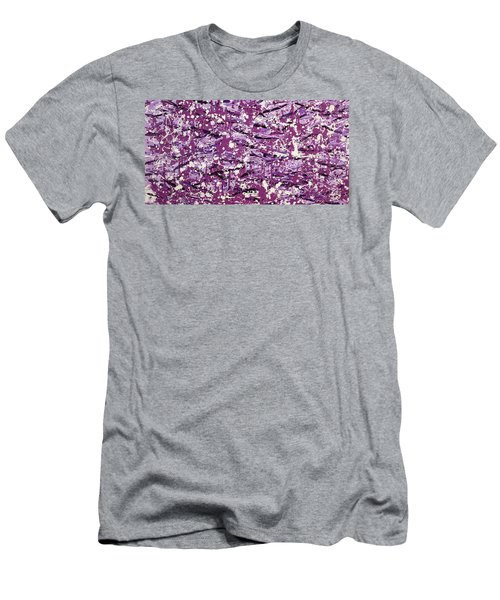 Men's T-Shirt (Slim Fit) featuring the painting Purple Splatter by Thomas Blood