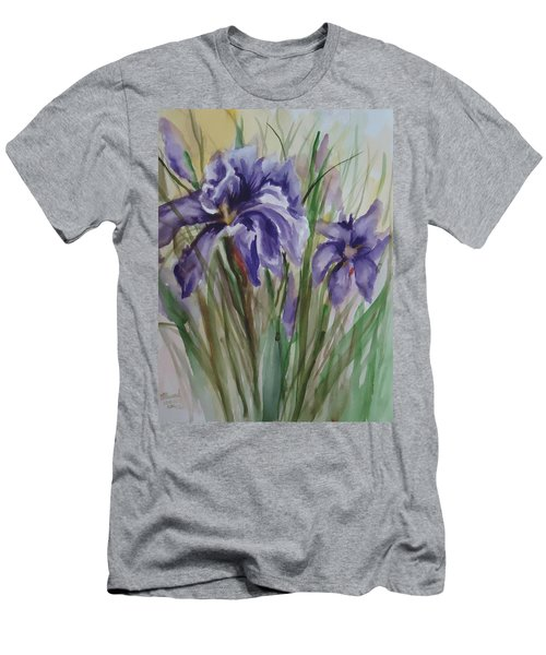 Purple Times 3 Men's T-Shirt (Athletic Fit)