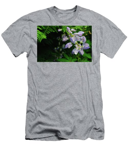 Men's T-Shirt (Athletic Fit) featuring the photograph Purple Wildflower by Tikvah's Hope