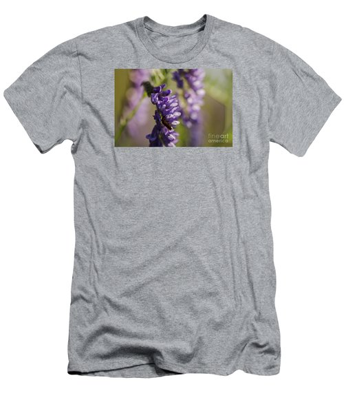Men's T-Shirt (Slim Fit) featuring the photograph Purple Wildflowers by JT Lewis