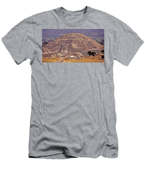 Pyramid Of The Sun - Teotihuacan Men's T-Shirt (Slim Fit) by Juergen Weiss