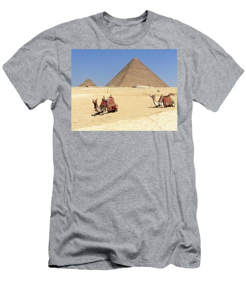 Men's T-Shirt (Athletic Fit) featuring the photograph Pyramids Of Giza by Silvia Bruno
