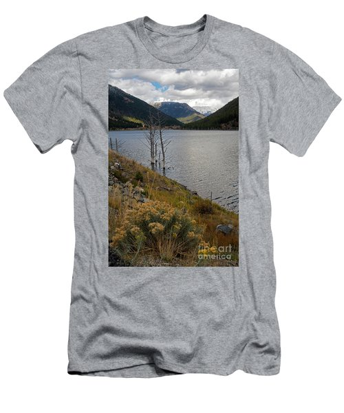 Quake Lake Men's T-Shirt (Slim Fit) by Cindy Murphy - NightVisions