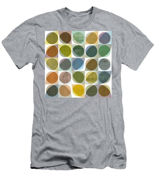 Men's T-Shirt (Slim Fit) featuring the digital art Quarter Circles Layer Project Three by Michelle Calkins