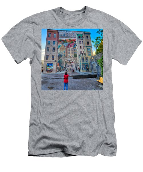 Quebec City Mural Men's T-Shirt (Athletic Fit)