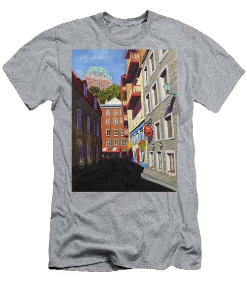 Quebec City Side Street Men's T-Shirt (Athletic Fit)