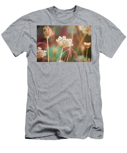 Men's T-Shirt (Slim Fit) featuring the digital art Queen Anne Impasto by Bonnie Bruno