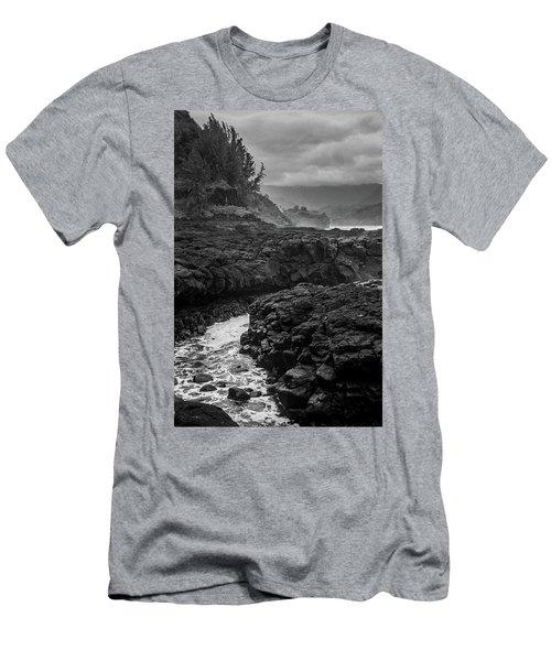 Men's T-Shirt (Athletic Fit) featuring the photograph Queens Bath Kauai by Lucian Capellaro