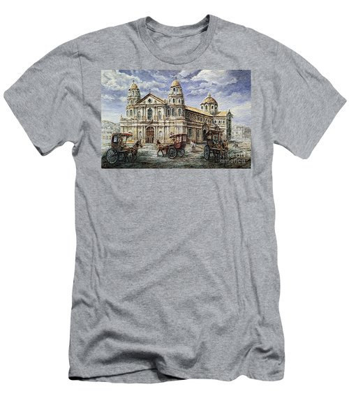 Quiapo Church 1900s Men's T-Shirt (Athletic Fit)