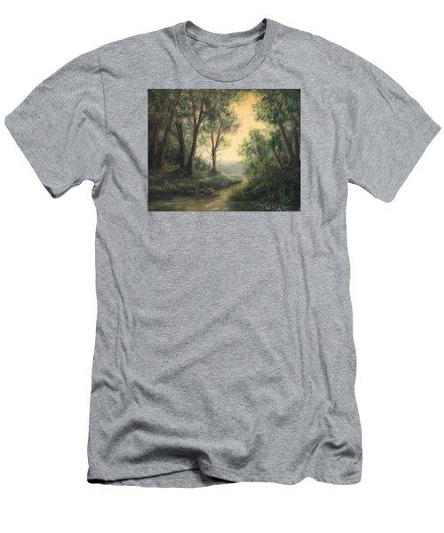 Quiet Stream  Men's T-Shirt (Athletic Fit)
