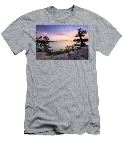 Men's T-Shirt (Slim Fit) featuring the photograph Quiet Sunset by Jennifer Casey